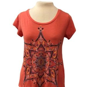 LUCKY BRAND Red Stat T-Shirt Size Small